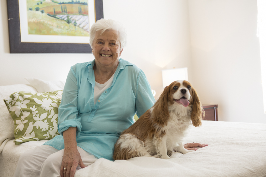 Pet-friendly senior living at Beatitudes Campus
